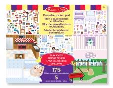 Wiederverwendbarer Stickerblock Spielhaus