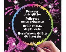 Scratch Art Pink Glitter