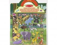 Wiederverwendbare Puffy Sticker Safari