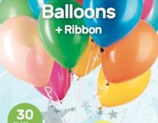 30 Latex-Ballons, Heliumgeeignet