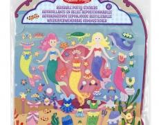 Wiederverwendbare Puffy Sticker Meerjungfrauen