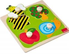 Knopfpuzzle Garten 4-tlg