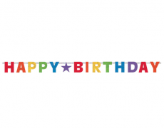 "Happy Birthday Banner ""Holographic Rainbow"" 2,4 m"