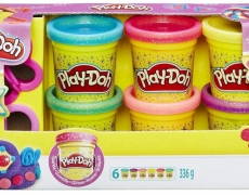 Play-Doh 6er-Pack, Glitter