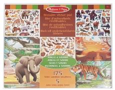Wiederverwendbarer Stickerblock Dschungel & Savanne