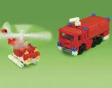 SUPER SONOS Feuerwehr 505 Teile in Karton-Box